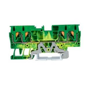 JPT4-QU-PE 4mm Plugable Earth Terminal Block
