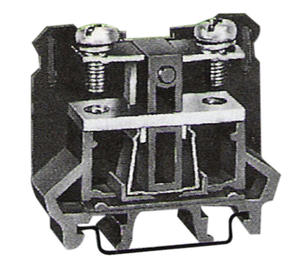 Leipole DIN Rail Mounting Black Screw Wire Panel Mount Terminal Block