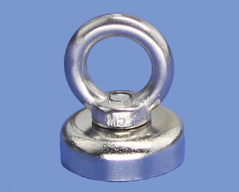 25mm diameter N35 Neodymium Pot metal magnetic hooks With M5 Eyebolt