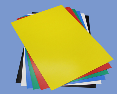 0.5mm x 210mm X 297mm Flexible Magnetic Sheet roll With Yellow PVC