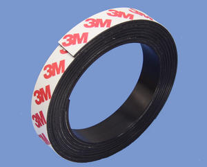 1.5mm X 15mm Magnetic Strip With High Quality 3M 9448 Adhesive Magnets USA