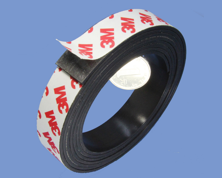 2mm X 20mm Thin Magnets Magnetic Strip with High Quality 3M 9448 Adhesive