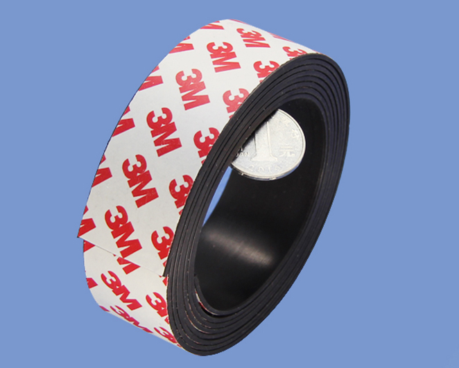 Strong China Magnetic Tape Industrial Magnets 1.5mm X 30mm With 3M Adhesive