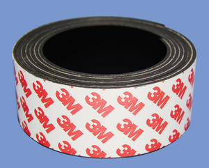 Strong China Magnetic Tape 2mm X 40mm With 3M Adhesive Custom Magnetic Parts