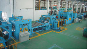 Heavy plate steel cut to length line