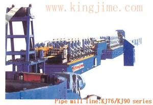 Straight seam welded pipe mill line