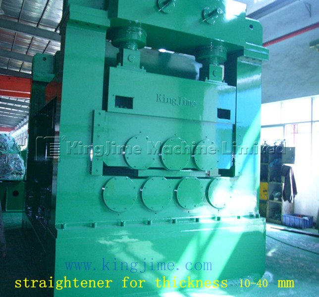 Heavy plate metal straightener machine