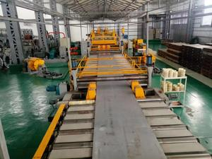 medium plate steel cut to length line