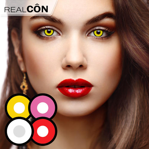 China Hollywood Luxury Color Lenses Pure Black & White Lenses Supplier