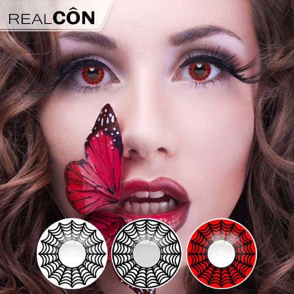 Realcon Wholesale Fashion Contact Lens Colored Spider Lens Supplier