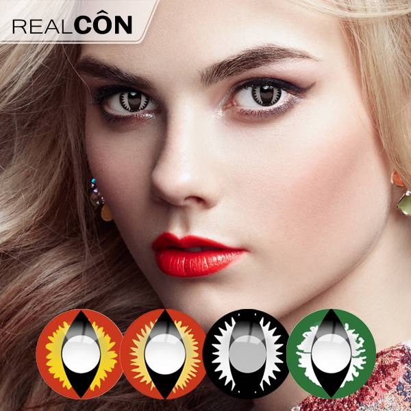 Realcon Big Eye Color Lens Cosplay Cat Eye Lenses Manufacturer