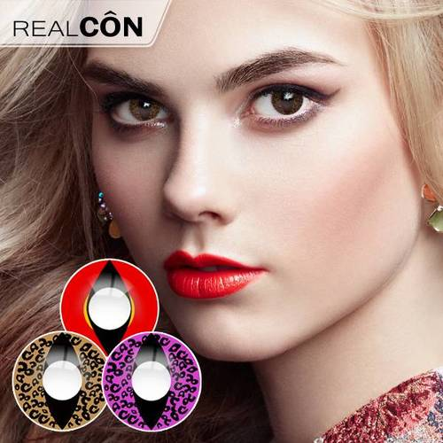 Realcon Contact Lenses For Halloween Cat Eye Lines Lens Manufacturer