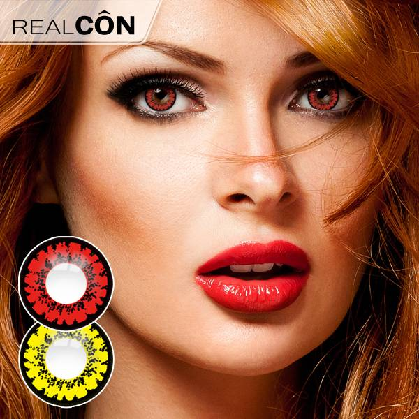 Realcon Wholesale Black Color Line Lenses Colored Contact Supplier