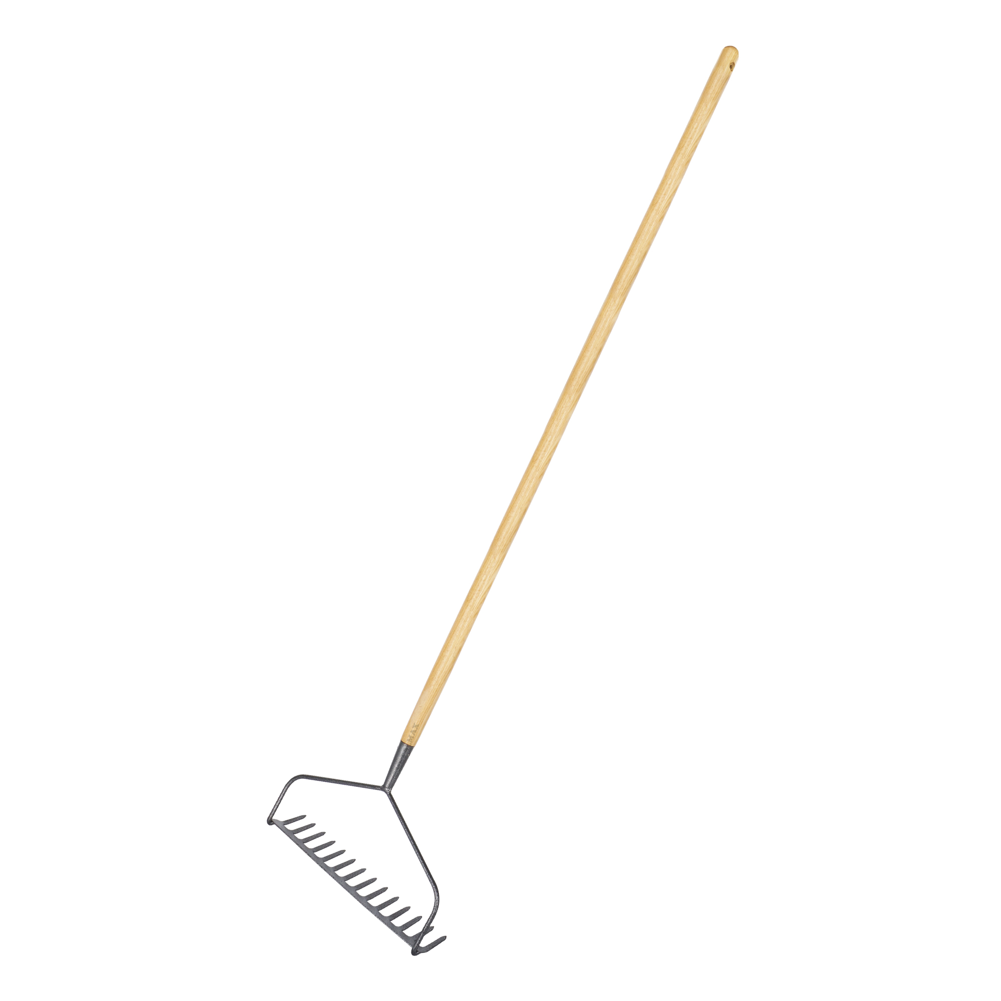 carbon steel long handled soil bow rake