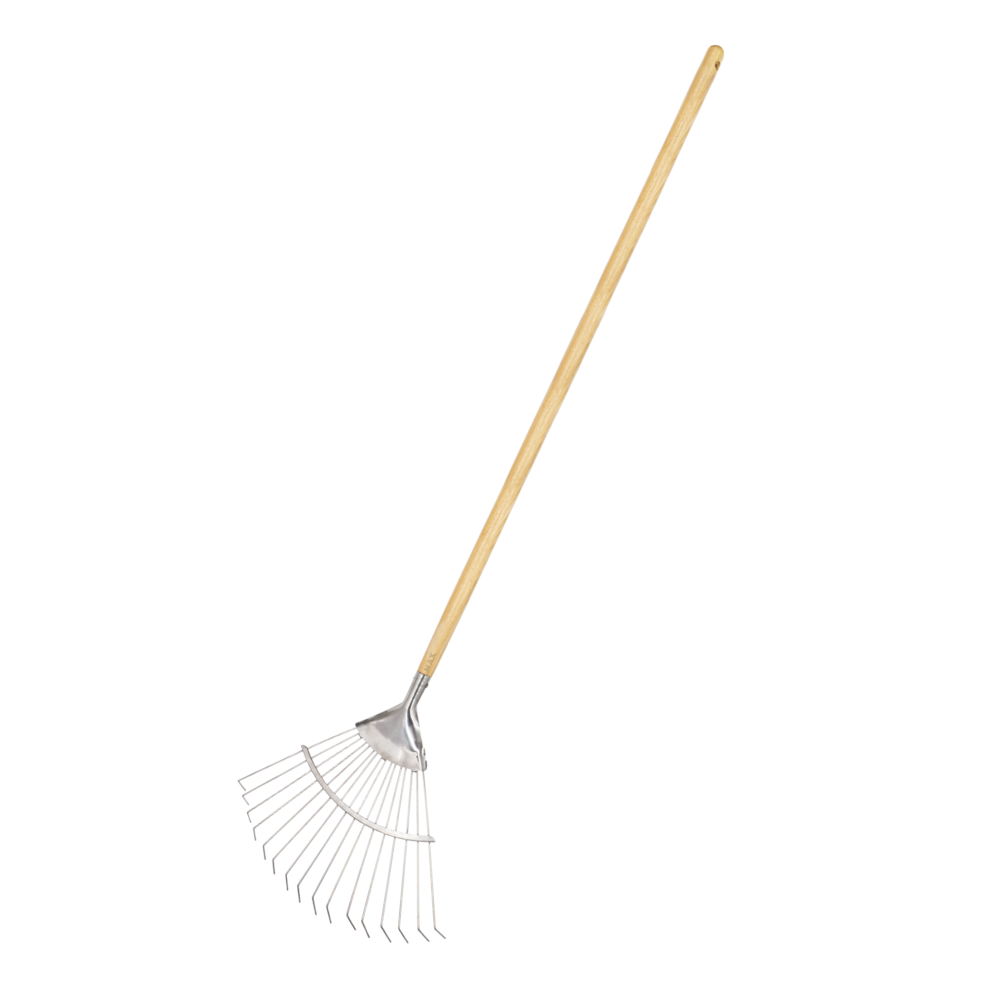 stainless steel long handled lawn leaf rake