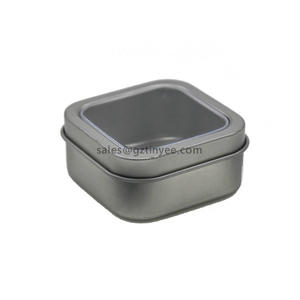 China best candle tin with window supplier
