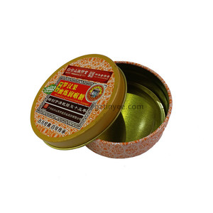 herbal candy tin box
