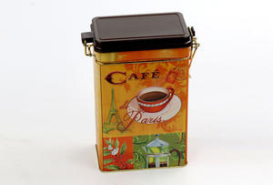 China customized cafe tin box  supplier