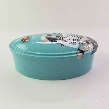 oval chocolate tin box