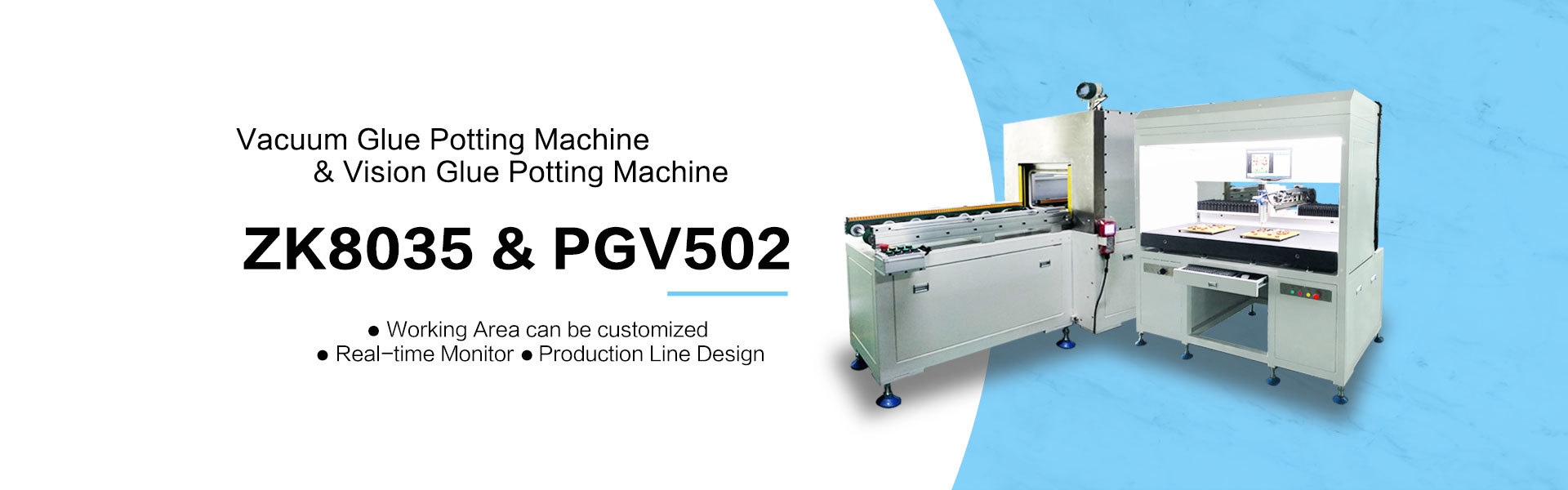 Vacuum glue potting machine & vision glue potting machine