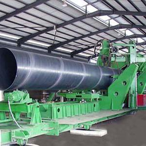 Spiral welded pipe mill