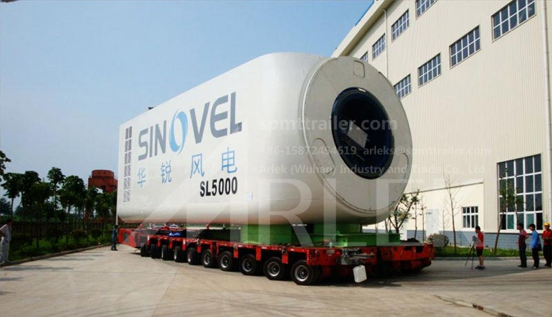 3-meter-wide self propelled modular trailers SPMT