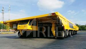 china custom-made flatbed transporter truck trailer manufacturer for sale