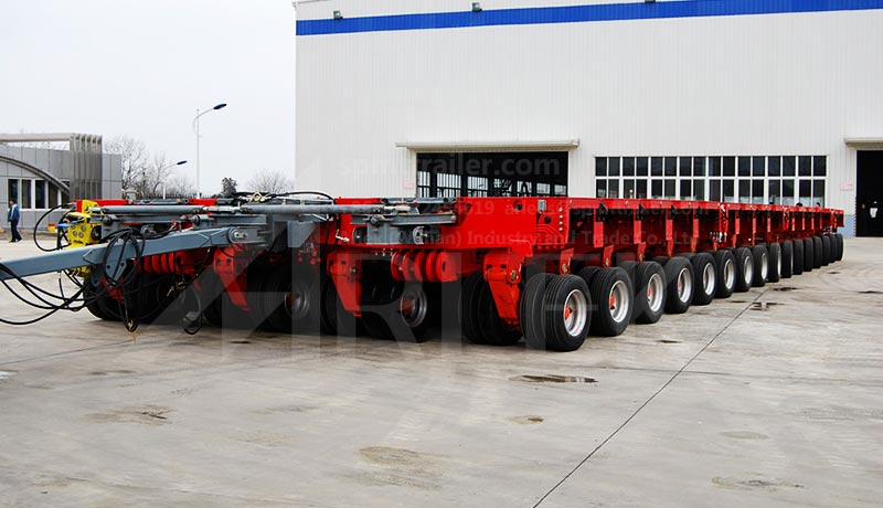 Application of  ARLEK hydraulic modular trailers in heavy duty transport