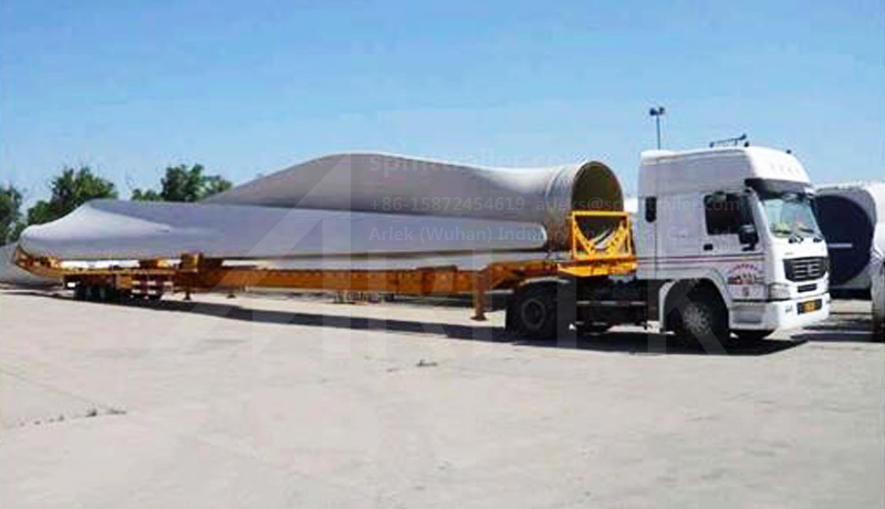 ARLEK windmill trailers provides a specialized solution for wind turbine blade transport