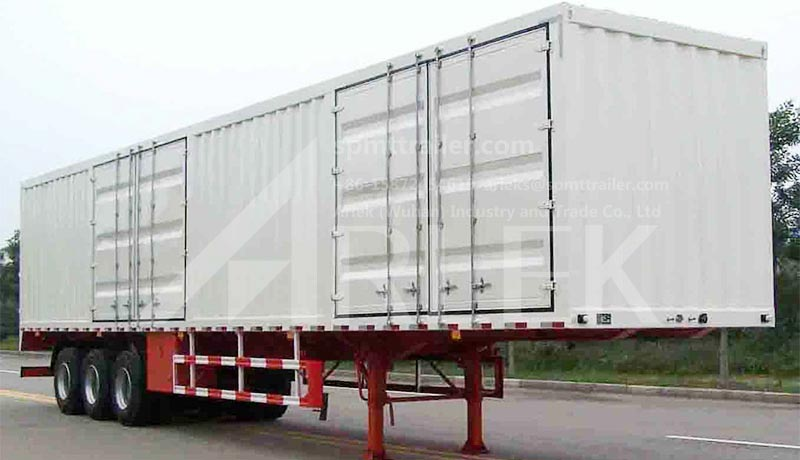Cargo box semi-trailers