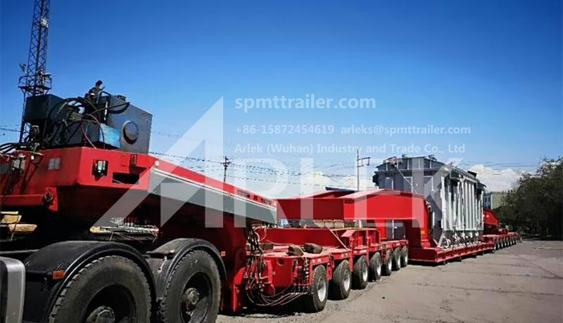 the heavy equipment hauling trailers and the hydraulic trailer combination