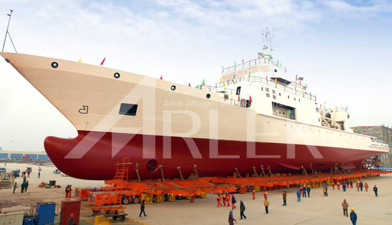 Transport a 5200 tons vessel, a new record for the maximum transport load of the SPMT made in China