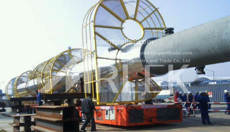 A Heavy Transport Company transported a 100 tons chemical tank at a etrochemical company