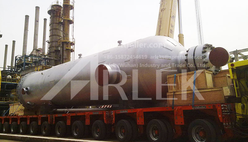 A Heavy Transport Co., Ltd. of Shanghai uses Arlek SPMT to transport chemical tanks