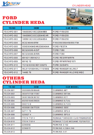 OTHERS CYLINDER HEAD LIST