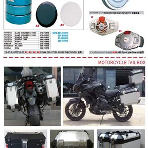SPARE TYRE  AND MOTORCYCLE TAIL BOX