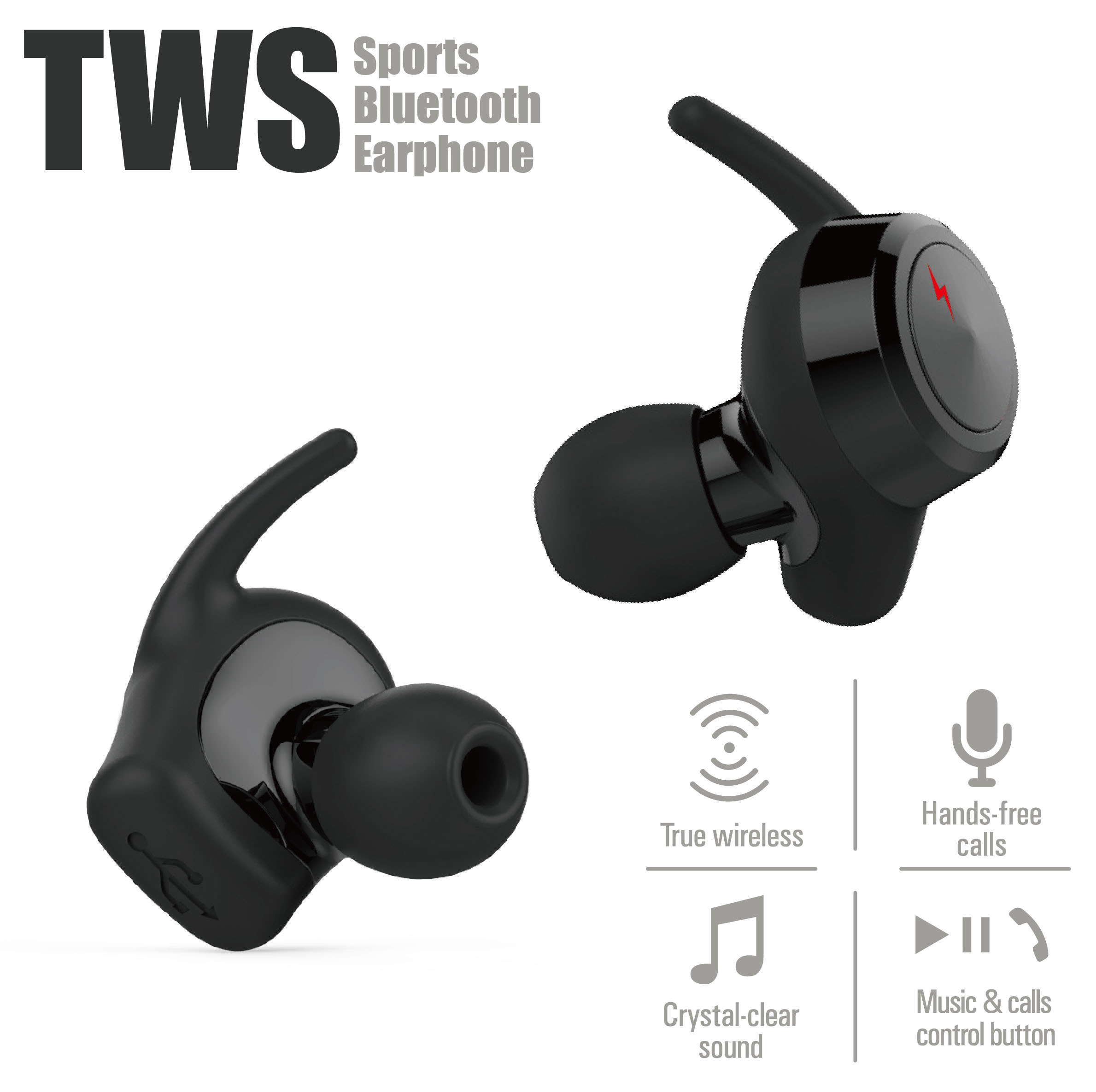 china wholesale bluetooth headphone in ear without charging case