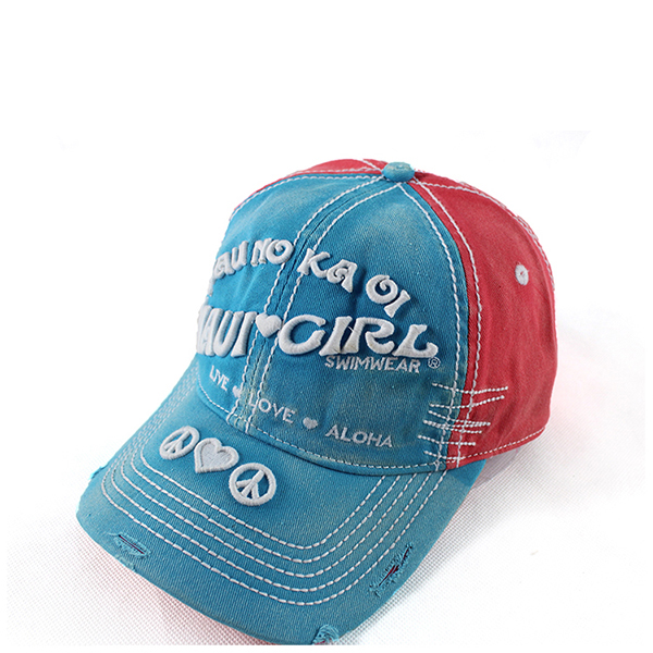 Red-Blue dad hats, Vintage style