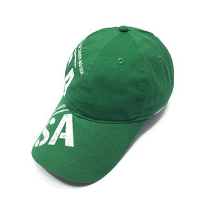 Print Letter Green Dad Hats