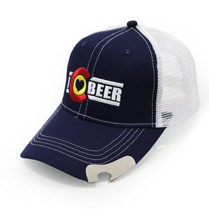 Baseball Trucker Hats With Bottle Openner