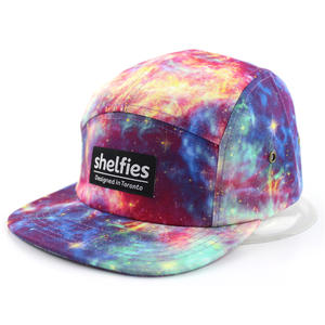 Starry print 5 panel hat | Wintime Hat Manufacturer