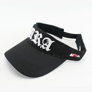 Black visor hats, Embroidered letter | Wintime Hat Manufacturer