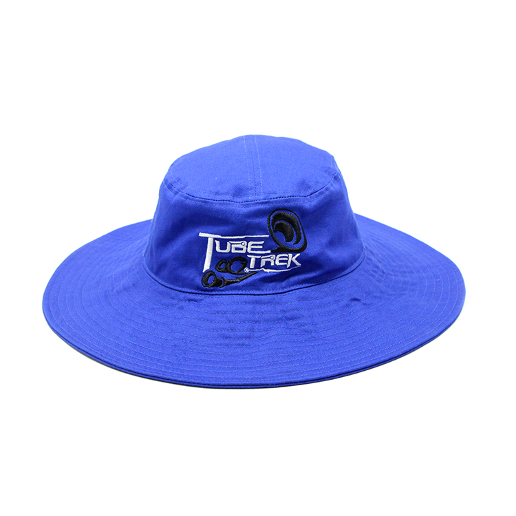 Custom Blue bucket hats, Embroidered Logo