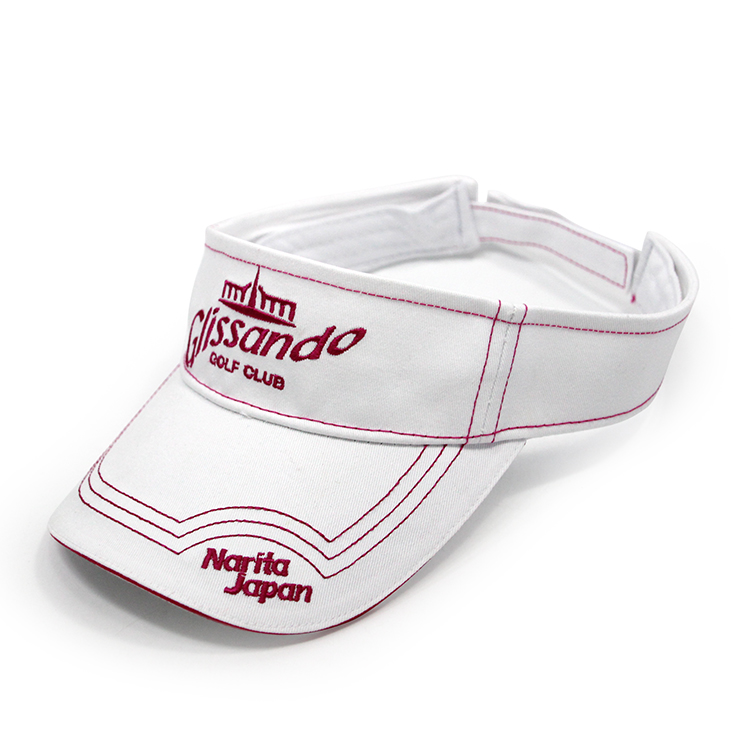White visor hats, Golf visor hat