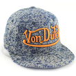 Custom Logo snapback hats in floral denim