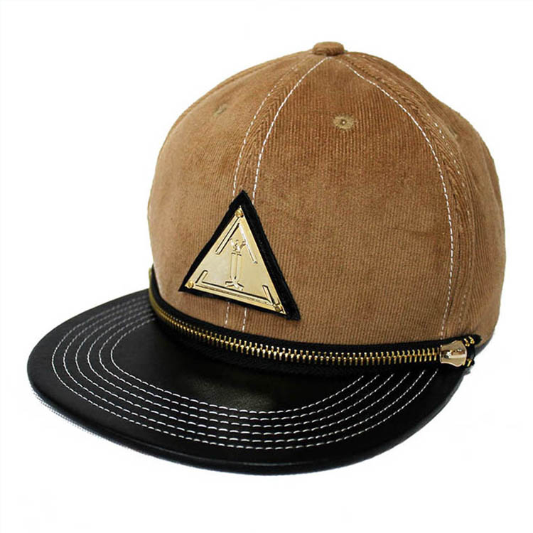 Custom badge womens/mens snapback hats