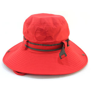 Custom Red Bucket Hats With Embroidered LOGO