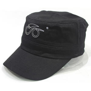 Custom Black 5 Panel Hats With Embroidered
