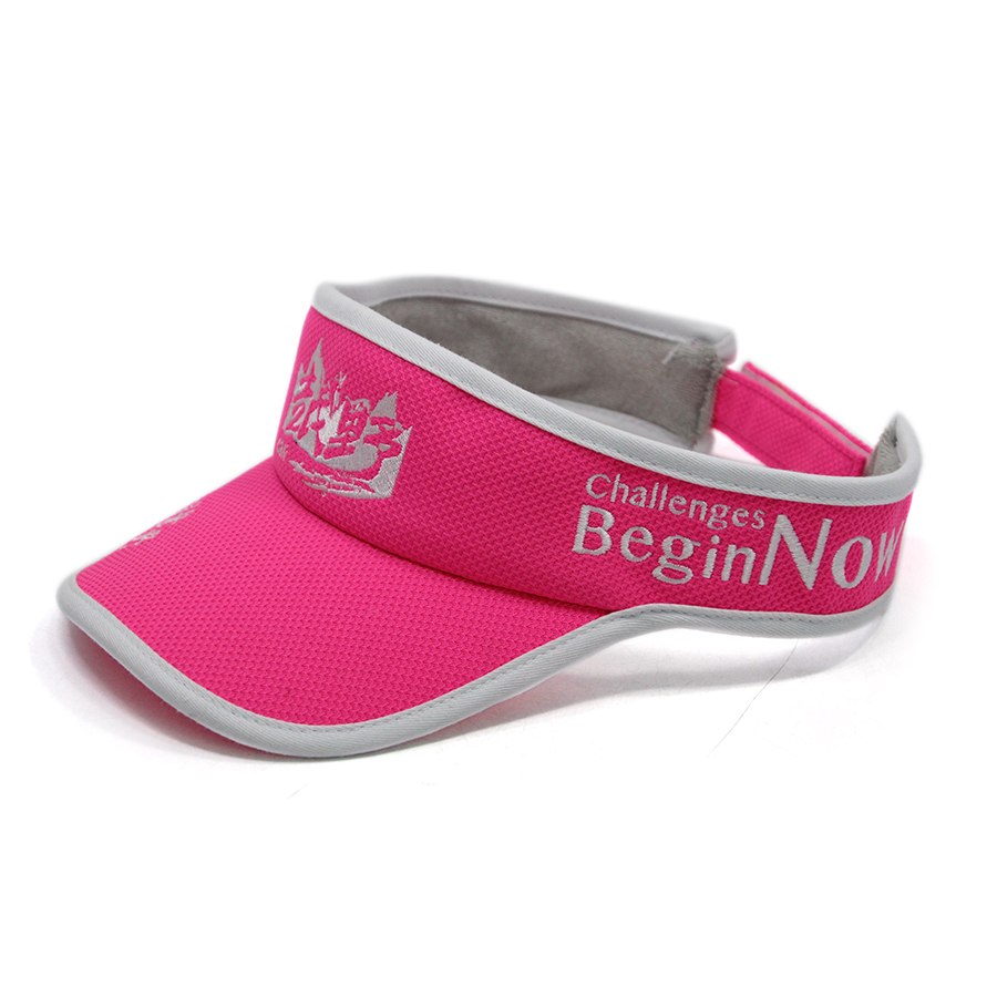 Custom Outdoor Sport Pink Visor Hats