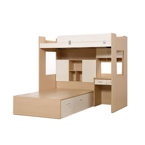 Simple Modern Used Wooden Children Bunk Bed Bedroom Furniture Set